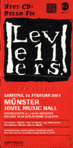Eintrittskarte, Jovel Music Hall, Münster, 10.02.2001